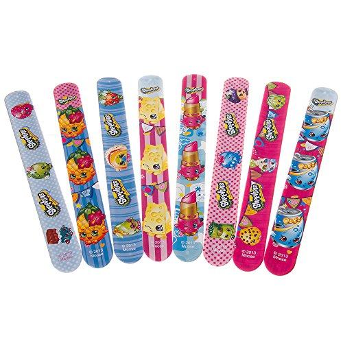 Official Shopkins Toy Slap Bands Bracelet Set of All 8