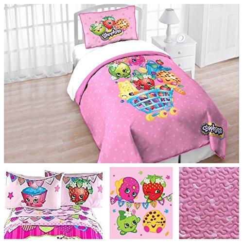 Shopkins Toys Complete 6 Piece Bedding Quilt Set - Twin