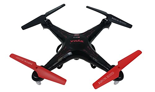 Syma X5C Quadcopter Drone with HD Camera and extra battery in exclusive BlackRed design