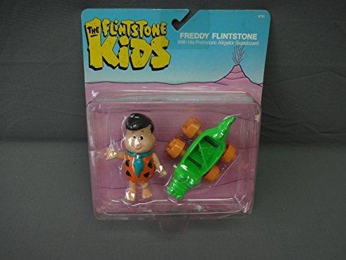 Flintstone Kids Freddy Action Figure w Prehistoric Alligator Skateboard Coleco