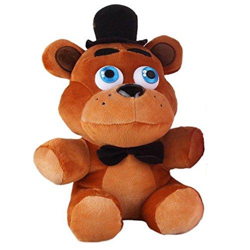 Shalleen New Brand Freddy and Foxy Fazbear Plush Toy 10 Inch with 4pcs Foxy Chica Bonnie Freddy Action Figures 7cm