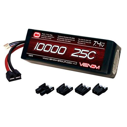 Venom LiPo Battery for Traxxas Rustler 25C 74 10000mAh 2S with Universal Plug System