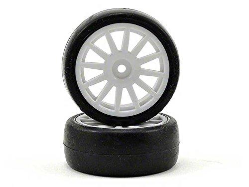 Traxxas Tires Wheels Assembled Glued 12-Spoke Wheels White