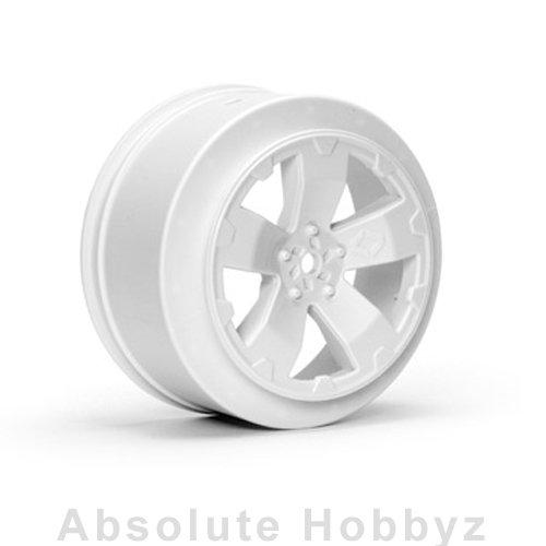 Avid RC Sabertooth Losi-SCTE Wheel  White  1 Pair