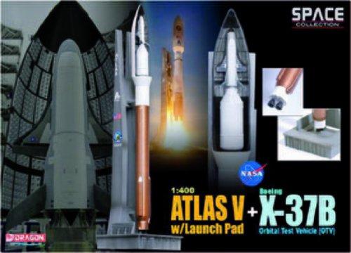 Dragon Models 1400 Atla V With Launch Pad  X-37B Orbital Test Vehicle OTV Space