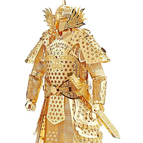 Kids Adult Toys 3D Construction Figures Model Puzzle General Samurai Warriors Armor for Children Tangram DIY Jointing Handmade Gold Color