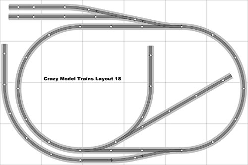 Layout 018 Bachmann HO EZ Track NS Nickel Silver - 4 X 6 NEW - Train Set