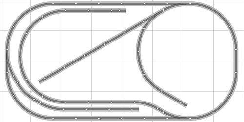 Layout 031 DCC Bachmann HO EZ Track NS Nickel Silver - 4 X 8 NEW - Train Set