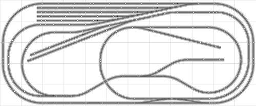 Layout 032 DCC Bachmann HO EZ Track NS Nickel Silver - 5 X 12 NEW - Train Set