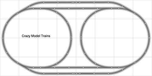 Train Layout 004 DCC Bachmann HO EZ Track NS Nickel Silver - 4 X 8 NEW - Train Set BAC-HO-GR-L004D