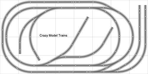 Train Layout 006 DCC Bachmann HO EZ Track NS Nickel Silver - 4 X 8 NEW - Train Set BAC-HO-GR-L006D