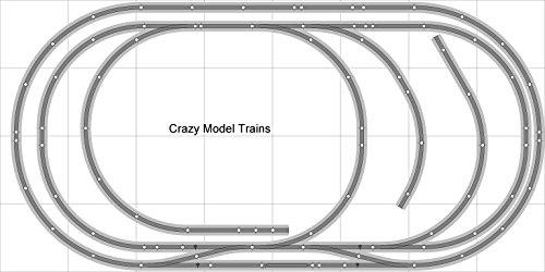 Train Layout 009 DCC Bachmann HO EZ Track NS Nickel Silver - 4 X 8 NEW - Train Set BAC-HO-GR-L009D