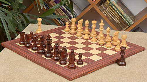 Chessbazaar Combo Of Antique Series Wooden Chess Pieces In Rose Box Wood Rosewood  Maple Chessboard
