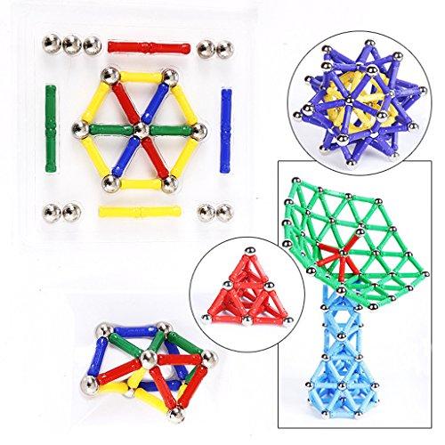 Vinmax 60Pcs Baby Kids Intelligence Educational Toys Magnetic Building Construction Toy Set Kids magnet sticks