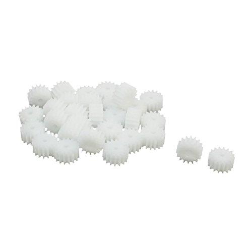 30 Pcs 16-Teeth Plastic Gear Cog Wheel for 2mm RC Model Motor Shaft