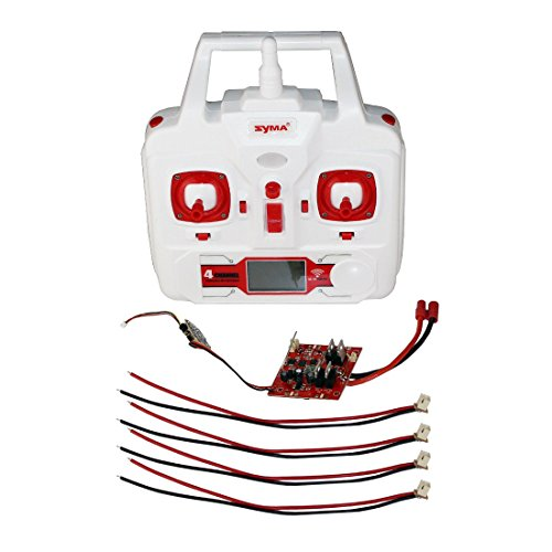 Samloo 24G Remote Control Transmitter Main Receiver Circuit Board Motor Wire for Syma X8HC X8HW X8HG RC Quadcopter Spare Part DIY