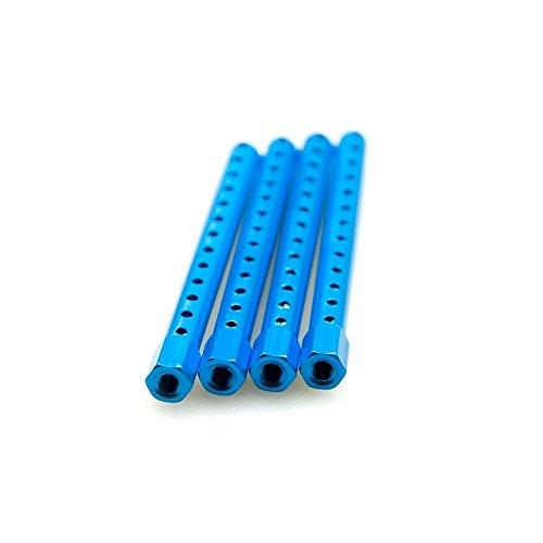 KingModel-CA Aluminum Alloy Body Post Mounts HSP 122037 for HSP RC 110 Car Upgrade Parts 94122 94123 Pack of 4 Pcs Blue