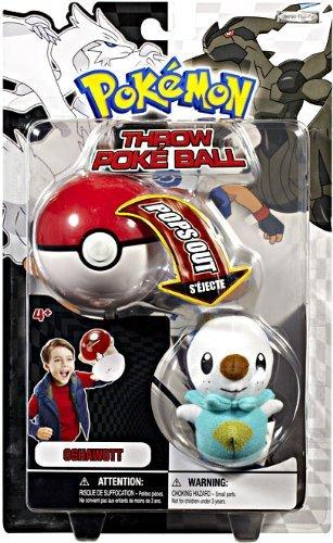 Pokemon Black White Toy Plush Series 1 Throw Poke Ball Oshawott