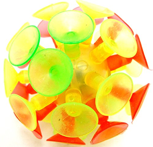 Suction Ball Light Up Ball Soft Ball Suction Throw Ball Round Splat Ball 2 New