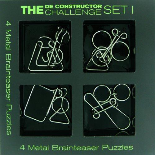 The De-constructor Challenge 4 Metal Brain Teaser Set 1-1-4