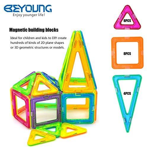 20 Pcs Magnetic Blocks Magnetic Tiles Building Blocks Magnetic Construction Set Educational Stacking Toys