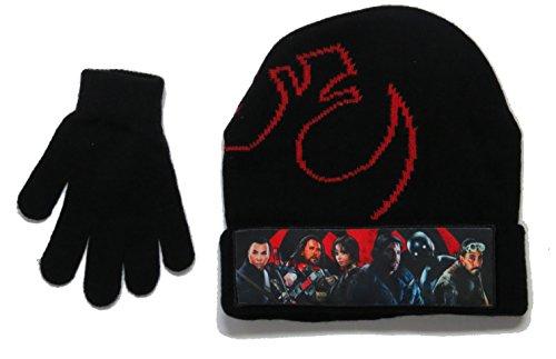 Boy Kids Disney Star Wars Rogue One Knit Beanie Winter Hat Gloves