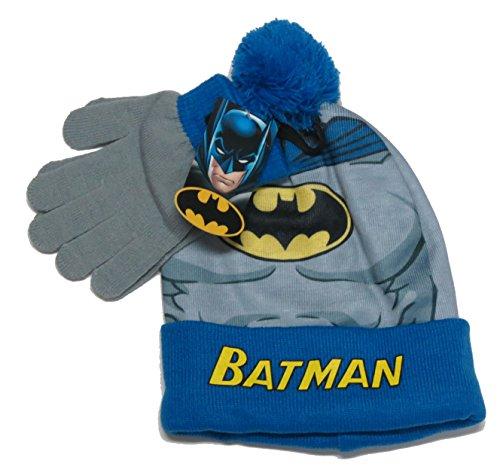 DC Batman Boys Hat Glove and Gloves