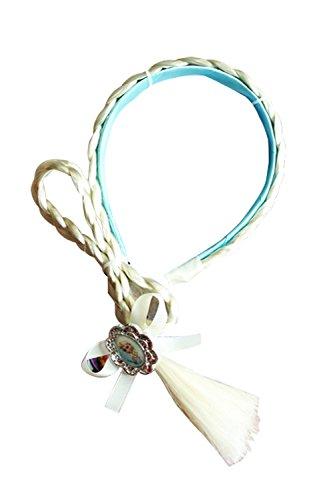 blue hair Princess Anna girls wig hoop accessories