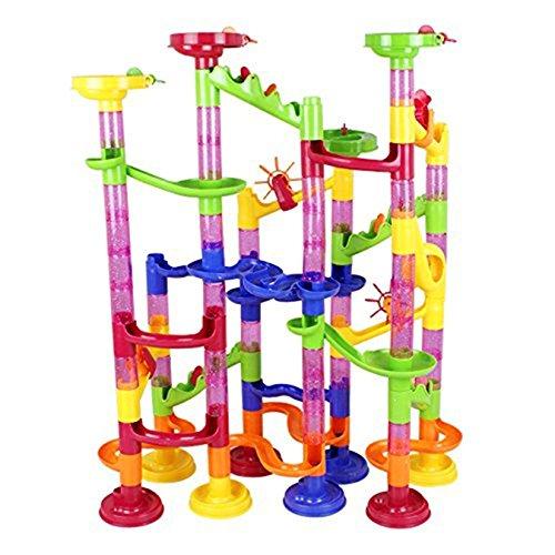 CH 105 Pieces Colorful Marble Run Sets Construction Building Blocks Children Educational Toys