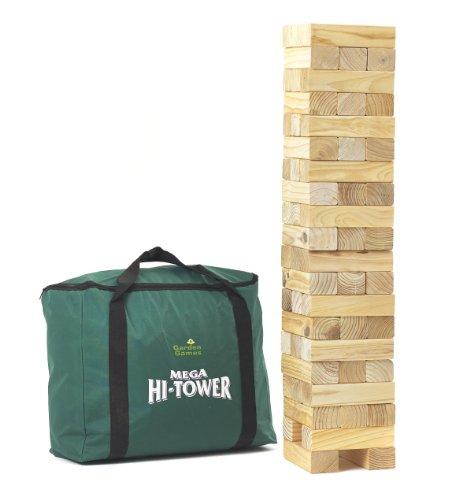 Garden Games Mega Hi-Tower in A Bag - Giant 09m - 15 Wooden Tower Block Game