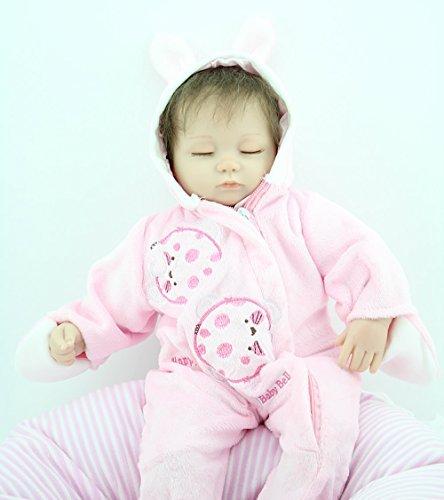 18 Inch Reborn Baby Silicone Vinyl Realistic Newborn Baby Girl Doll Children XMAS Birthday Gift by NPK