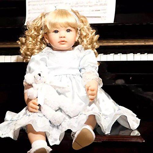 Oumeinuo lifelike 22 Handcraft Cute Realistic Newborn Baby Girl Dolls Silicone Reborn Baby Doll birthday gift toy