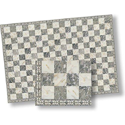 124 Dollhouse Flooring Faux Marble Checkered Floor Tile