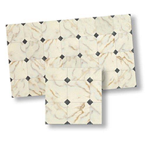124 Dollhouse Flooring Faux Marble Floor Tile by World Model