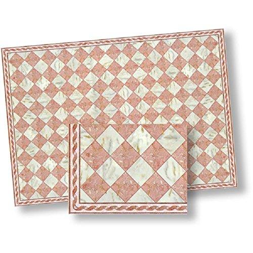 Dollhouse Flooring Pink White Faux Marble Floor Tile