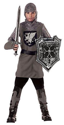 California Costumes Valiant Knight Boys Costume with Sword Shield Bundle Costume BlackSilver