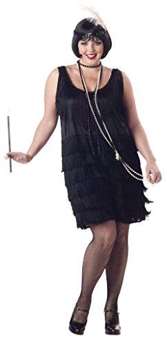 California Costumes Womens Plus-Size Fashion Flapper Plus Black 1XL 16-18