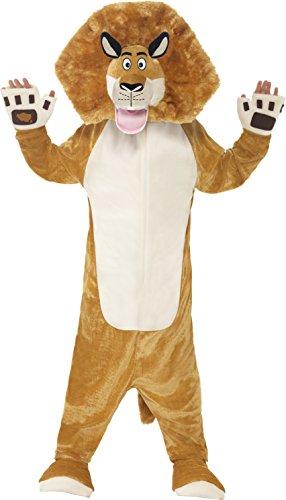 Smiffys Big Boys Madagascar Alex The Lion Costume M Brown
