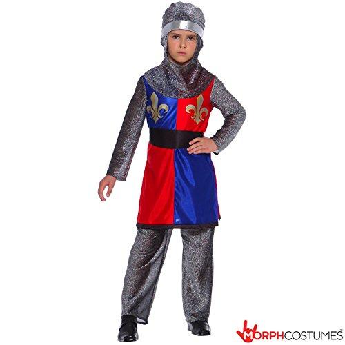 Boys Medieval Dragon Slayer Knight Fancy Dress Costume - Small 4 - 6 Years