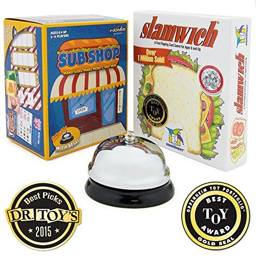 Foodie Family Fun Bundle Slamwich Card Game and Sub Shop Board Game
