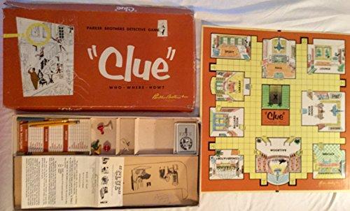 1956 Vintage Clue Board Game Parker Brothers