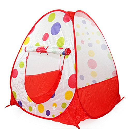 SANNYSIS Children Play Tent Play House Indoor Tent Play Toys Birthday Present Red