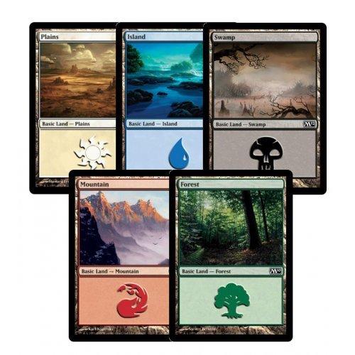 300 Assorted Magic The Gathering MTG Basic Lands Cards