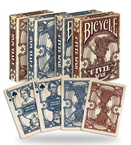 2 Decks Bicycle Civil War Red Blue Poker Playing Cards Brand New Decks