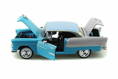 124 Scale 1955 Blue Chevy Bel Air Diecast Model Car
