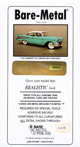 Gold Bare-Metal Foil Model Car Truck Kit Adhesive