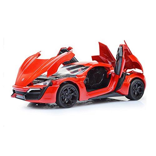 Mallya 132 Red Lykan Hypersport Diecast Model Car