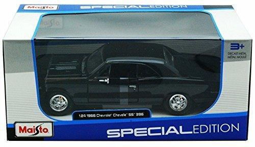 Maisto 1966 Chevy Chevelle SS396 124 Scale Diecast Model Car Black