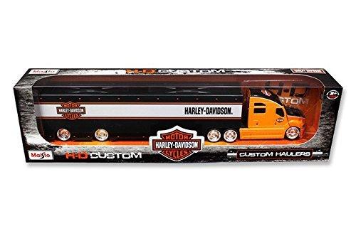 Maisto 11516OR Harley Davidson Custom Hauler Trailer Orange 1-64 Diecast Model Truck by Maisto