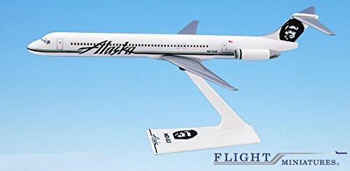Alaska 91-Cur MD-80 Airplane Miniature Model Plastic Snap-Fit 1200 Part AMD-08000H-016